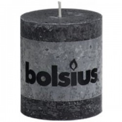 Bolsius Rustiek kaars Antraciet