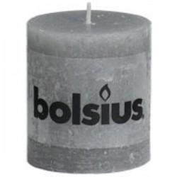 Bolsius rustiek kaars licht grijs