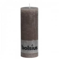 Bolsius rustieke kaars in de kleur taupe