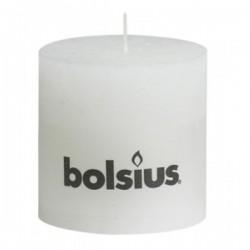 Bolsius rustieke kaars in de kleur wit