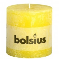 Bolsius rustieke kaars in de kleur zonnegeel