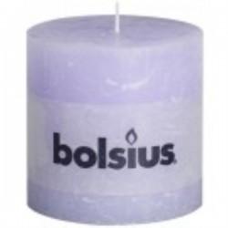 Bolsius rustieke kaars in de kleur pastel lila