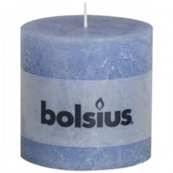 Bolsius rustieke kaars in de kleur jeans blauw