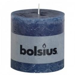 Bolsius rustieke kaars in de kleur donker blauw