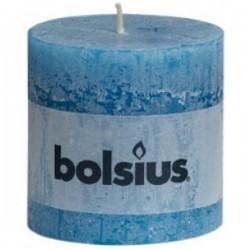 Bolsius rustieke kaars in de kleur zeeblauw
