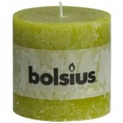 Bolsius rustieke kaars in de kleur groen