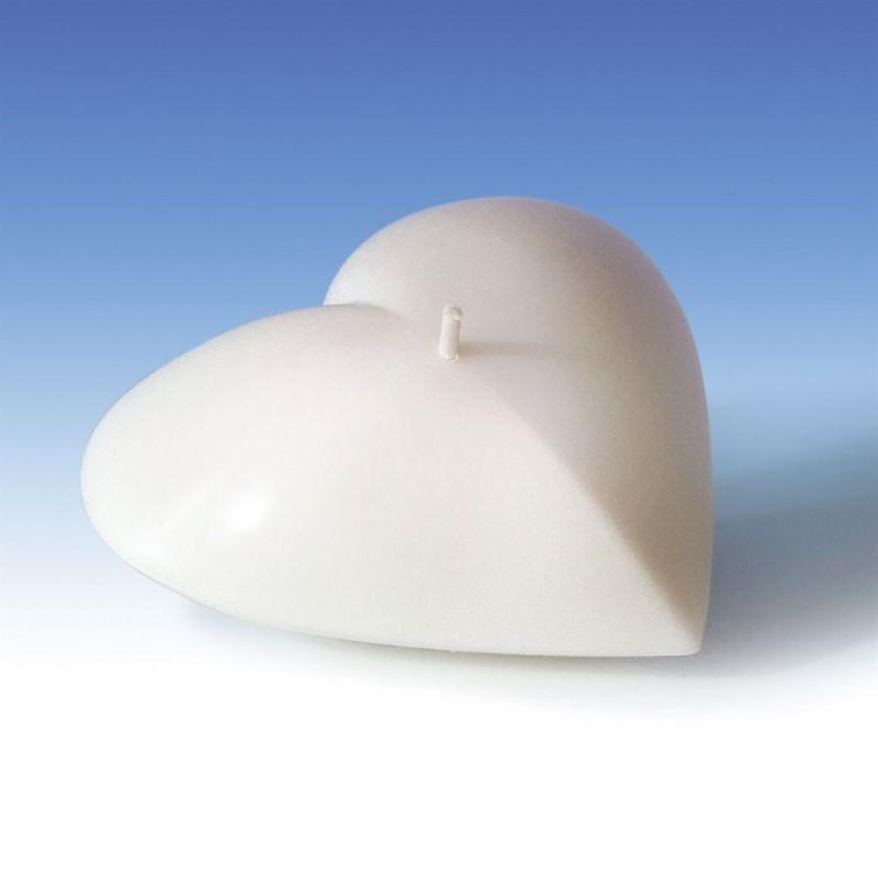 Gietmal om kaarsen in te gieten in de vorm van een liggend hart