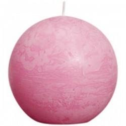 Bolsius rustieke bolkaars in de kleur roze