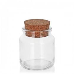 Glazen potje met kurk 200 ml